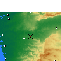 Nearby Forecast Locations - Songadh - Mapa