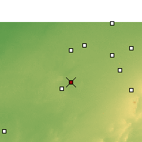 Nearby Forecast Locations - Sujangarh - Mapa