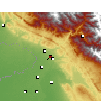 Nearby Forecast Locations - Sujanpur - Mapa