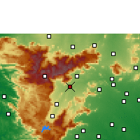 Nearby Forecast Locations - Theni - Mapa