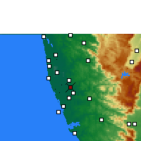 Nearby Forecast Locations - Thiruvalla - Mapa