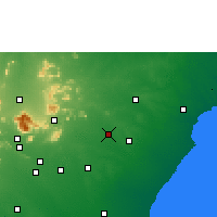 Nearby Forecast Locations - Tirupathur - Mapa