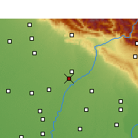 Nearby Forecast Locations - Yamuna Nagar - Mapa