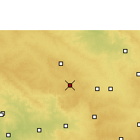 Nearby Forecast Locations - Zahirabad - Mapa