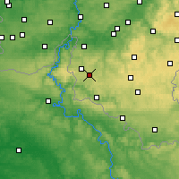 Nearby Forecast Locations - Bièvre - Mapa