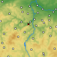 Nearby Forecast Locations - Dobřichovice - Mapa