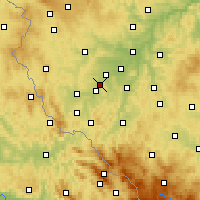 Nearby Forecast Locations - Holýšov - Mapa