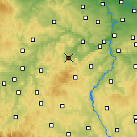 Nearby Forecast Locations - Hořovice - Mapa