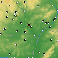 Nearby Forecast Locations - Hustopeče - Mapa