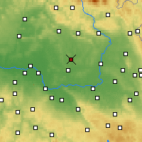 Nearby Forecast Locations - Nový Bydžov - Mapa