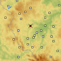 Nearby Forecast Locations - Stříbro - Mapa