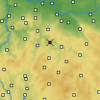 Nearby Forecast Locations - Zruč nad Sázavou - Mapa