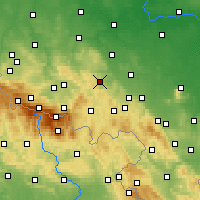 Nearby Forecast Locations - Bolków - Mapa