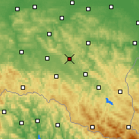 Nearby Forecast Locations - Brzozów - Mapa