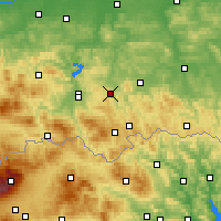 Nearby Forecast Locations - Grybów - Mapa