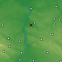 Nearby Forecast Locations - Opole Lubelskie - Mapa