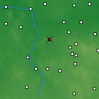 Nearby Forecast Locations - Poddębice - Mapa