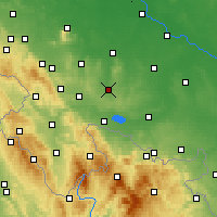 Nearby Forecast Locations - Ziębice - Mapa