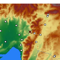 Nearby Forecast Locations - Düziçi - Mapa