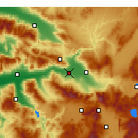 Nearby Forecast Locations - Sarayköy - Mapa
