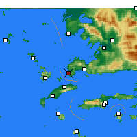 Nearby Forecast Locations - Turgutreis - Mapa