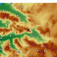 Nearby Forecast Locations - Buldan - Mapa