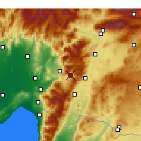 Nearby Forecast Locations - Bahçe - Mapa