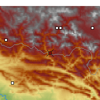 Nearby Forecast Locations - Çukurca - Mapa