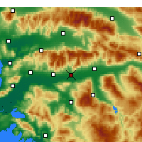 Nearby Forecast Locations - Köşk - Mapa