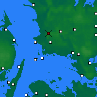 Nearby Forecast Locations - Slagelse - Mapa