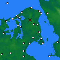 Nearby Forecast Locations - Hillerød - Mapa