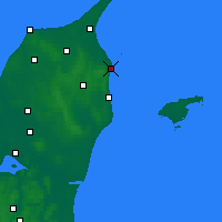 Nearby Forecast Locations - Frederikshavn - Mapa