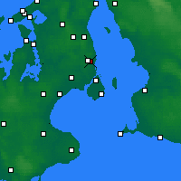 Nearby Forecast Locations - Gentofte - Mapa