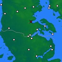 Nearby Forecast Locations - Aabenraa - Mapa