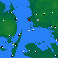 Nearby Forecast Locations - Korsør - Mapa