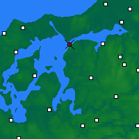 Nearby Forecast Locations - Løgstør - Mapa