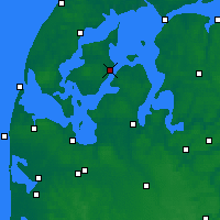 Nearby Forecast Locations - Nykøbing Mors - Mapa