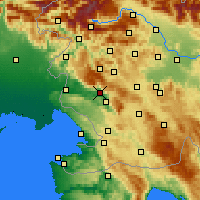 Nearby Forecast Locations - Ajdovščina - Mapa