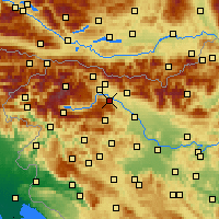Nearby Forecast Locations - Radovljica - Mapa