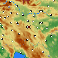 Nearby Forecast Locations - Dobrepolje - Mapa