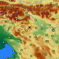 Nearby Forecast Locations - Gorenja Vas - Mapa