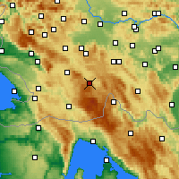 Nearby Forecast Locations - Loška Dolina - Mapa