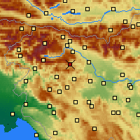 Nearby Forecast Locations - Železniki - Mapa