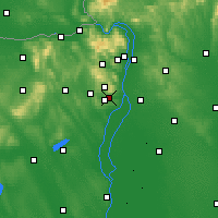 Nearby Forecast Locations - Budaörs - Mapa