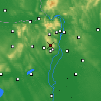 Nearby Forecast Locations - Budakeszi - Mapa