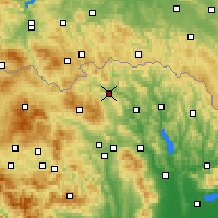 Nearby Forecast Locations - Bardejov - Mapa