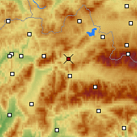 Nearby Forecast Locations - Dolný Kubín - Mapa