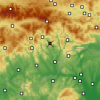 Nearby Forecast Locations - Jelšava - Mapa