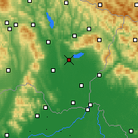 Nearby Forecast Locations - Michalovce - Mapa