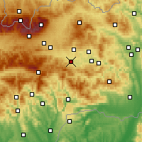 Nearby Forecast Locations - Spišská Nová Ves - Mapa
